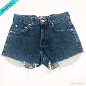 [Levi's] Girls 514 High Rise Frayed Cut Off Shorts